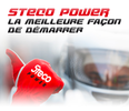 Steco Power : gamme Powersports, batterie Lithium Ion Performance, un booster au lithium et deux chargeurs intelligents
