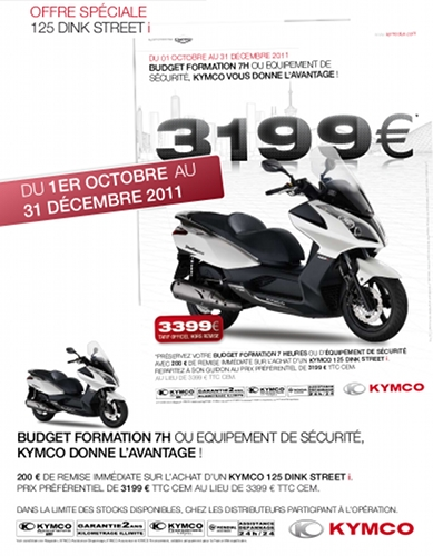 Kymco : offre formation